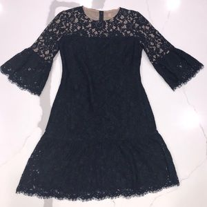 LAUREN RALPH LAUREN RUFFLE SLEEVE LACE DRESS SZ 8